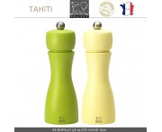 Комплект мельниц Tahiti DUO для соли и перца, H 15 см, салатовый - лимонный, PEUGEOT, Франция