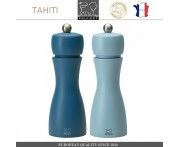Комплект мельниц Tahiti DUO для соли и перца, H 15 см, синий - голубой, PEUGEOT, Франция