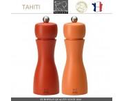 Комплект мельниц Tahiti DUO для соли и перца, H 15 см, коралловый- оранжевый, PEUGEOT, Франция