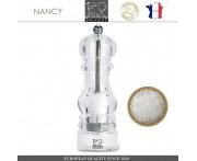 Мельница NANCY для соли, H 18 см, акрил прозрачный, PEUGEOT, Франция