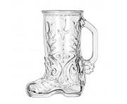 "Кружка пивная ""Сапог"", 500 мл, H 16,5 см, стекло, Libbey, Италия"
