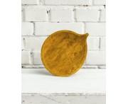 """Тарелка деревянная ручной работы """"Осина"""" , L 25 см, D 20.5 см, массив дуба светлый, FUGA, Россия"""