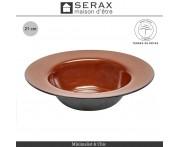 Глубокая тарелка TERRES DE RÊVES коричневый-синий, D 27.5 см, керамика ручной работы, SERAX, Бельгия