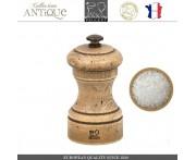 Мельница Antique для соли, H 10 см, состаренное дерево, сталь, PEUGEOT, Франция