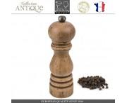 Мельница Antique для перца, H 18 см, состаренное дерево, сталь, PEUGEOT, Франция