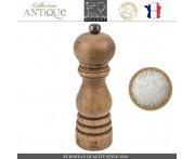 Мельница Antique для соли, H 18 см, состаренное дерево, сталь, PEUGEOT, Франция
