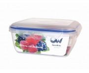 Герметичный контейнер пищевой, 2,8 л, квадратный, пластик пищевой, серия Enjoy, Oriental Way, Таиланд