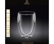 Бокал Thermo Glass с двойными стенками, V 200 мл, термостойкое стекло, Wilmax, Англия