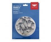 Набор кондитерских мини-вырубок «Животные», 10 шт, сталь нержавеющая, Paderno, Италия