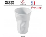 """Froisses """"Мятый керамический стаканчик"""" для латте, 260 мл, белый, REVOL, Франция"""