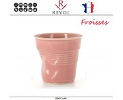 """Froisses """"Мятый керамический стаканчик"""" для кофе эспрессо, 80 мл, розовый, REVOL, Франция"""