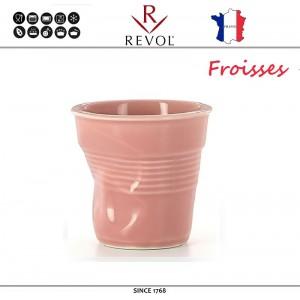 """Froisses """"Мятый керамический стаканчик"""" для кофе эспрессо, 80 мл, розовый, REVOL, Франция, арт. 8926, фото 1"""