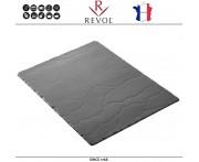 Блюдо BASALT для подачи прямоугольное, 40 x 30 см, фарфор, REVOL, Франция