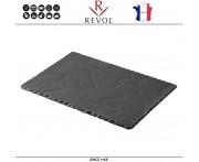 Блюдо BASALT для подачи прямоугольное, 30 x 16 см, фарфор, REVOL, Франция