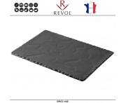 Блюдо BASALT для подачи прямоугольное, 30 x 20 см, фарфор, REVOL, Франция