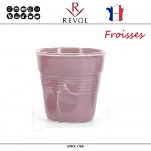 """Froisses """"Мятый керамический стаканчик"""" для кофе эспрессо, 80 мл, лиловый, REVOL, Франция, арт. 8925, фото 1"""
