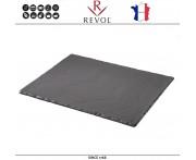 Блюдо BASALT для подачи прямоугольное, 32 x 26 см, фарфор, REVOL, Франция