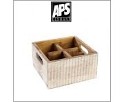 Деревянный ящик Vintage для аксессуаров, 4 ячейки, белый, APS