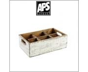 Деревянный ящик Vintage для аксессуаров, 6 ячеек, белый, APS