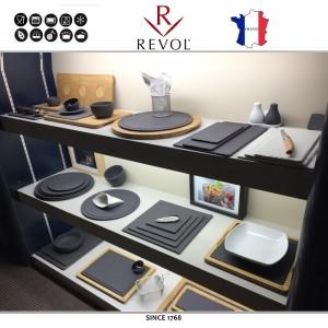 Миска-салатник BASALT, 1000 мл, D 22 см, H 5.5 см, фарфор, REVOL, Франция, арт. 113163, фото 3