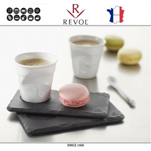 """Froisses """"Мятый керамический стаканчик"""" для кофе эспрессо, 80 мл, синий, REVOL, Франция, арт. 77891, фото 5"""