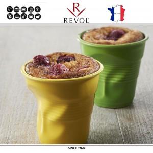 """Froisses """"Мятый керамический стаканчик"""" для кофе эспрессо, 80 мл, зеленый, REVOL, Франция, арт. 8923, фото 2"""