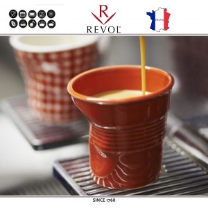 """Froisses """"Мятый керамический стаканчик"""" для кофе эспрессо, 80 мл, бирюзовый, REVOL, Франция, арт. 8927, фото 8"""