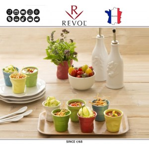 """Froisses """"Мятый керамический стаканчик"""" для кофе эспрессо, 80 мл, зеленый, REVOL, Франция, арт. 8923, фото 8"""