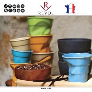 """Froisses """"Мятый керамический стаканчик"""" для кофе эспрессо, 80 мл, серый, REVOL, Франция, арт. 8928, фото 6"""