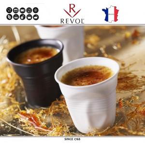 """Froisses """"Мятый керамический стаканчик"""" для кофе, 120 мл, белый, REVOL, Франция, арт. 119891, фото 4"""