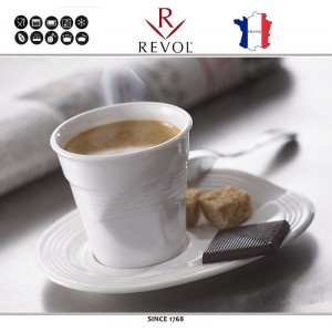 """Froisses """"Мятый керамический стаканчик"""" для кофе, 120 мл, белый, REVOL, Франция, арт. 119891, фото 2"""