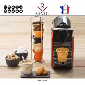 """Froisses """"Мятый керамический стаканчик"""" для кофе эспрессо, 80 мл, синий, REVOL, Франция, арт. 77891, фото 8"""