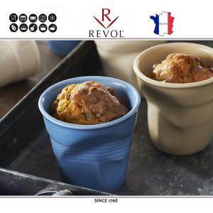 """Froisses """"Мятый керамический стаканчик"""" для кофе эспрессо, 80 мл, бирюзовый, REVOL, Франция, арт. 8927, фото 3"""