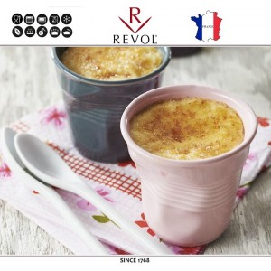 """Froisses """"Мятый керамический стаканчик"""" для кофе эспрессо, 80 мл, лиловый, REVOL, Франция, арт. 8925, фото 3"""