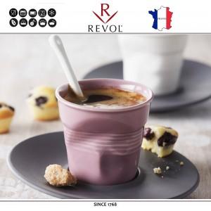 """Froisses """"Мятый керамический стаканчик"""" для кофе эспрессо, 80 мл, лиловый, REVOL, Франция, арт. 8925, фото 2"""