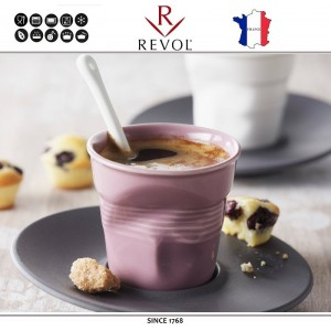 """Froisses """"Мятый керамический стаканчик"""" для кофе эспрессо, 80 мл, синий, REVOL, Франция, арт. 77891, фото 2"""