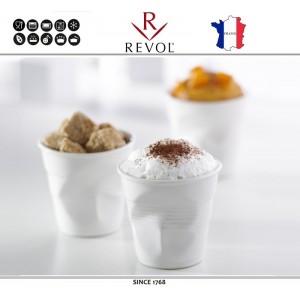 """Froisses """"Мятый керамический стаканчик"""" для кофе эспрессо, 80 мл, черный, REVOL, Франция, арт. 77890, фото 6"""
