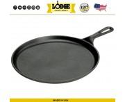Сковорода для блинов и фахитас, D 27 см, литой чугун, Lodge, США