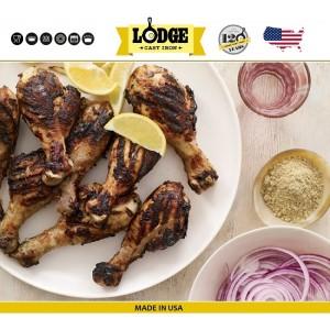 Сковорода-гриль чугунная плоская, W 30х30 см, литой чугун, Lodge, США, арт. 79493, фото 12