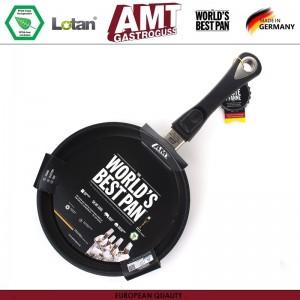Антипригарная сковорода Diamond Induction для плиты и духовки, D 28 см, H 4 см, индукционное дно, съемная ручка, AMT, Германия, арт. 108, фото 3