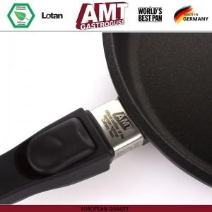 Антипригарная глубокая сковорода Diamond Induction для плиты и духовки, D 28 см, H 7 см, индукционное дно, съемная ручка, AMT, Германия, арт. 113, фото 7