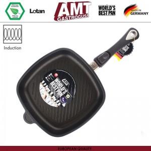 Антипригарная сковорода-гриль Diamond Induction для плиты и духовки, 28 х 28 см, H 5 см, индукционное дно, съемная ручка, AMT, Германия, арт. 115, фото 3