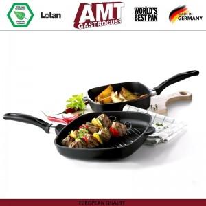 Антипригарная сковорода-гриль Diamond Induction для плиты и духовки, 28 х 28 см, H 5 см, индукционное дно, съемная ручка, AMT, Германия, арт. 115, фото 2