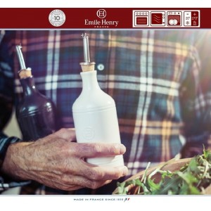 Les Ustensiles Бутылка для масла и уксуса, 450 мл, керамика, цвет красный, Emile Henry, арт. 74773, фото 3