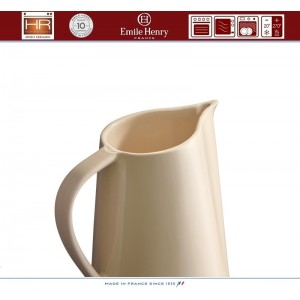 Les Ustensiles Кувшин керамический, 900 мл, цвет кремовый, Emile Henry, арт. 86909, фото 3