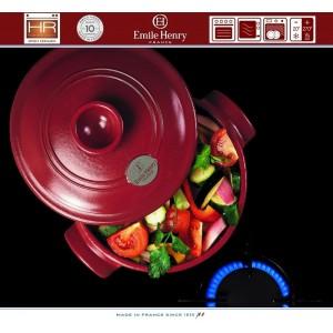 COCOTTE Кастрюля керамическая для духовки и плиты, 4 л, D 22 см, Emile Henry, арт. 79535, фото 2