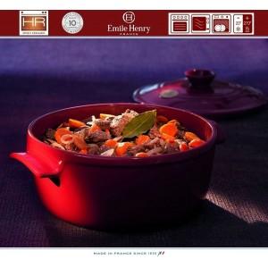 COCOTTE Кастрюля керамическая для духовки и плиты, 6.7 л, D 30 см, Emile Henry, арт. 79536, фото 4
