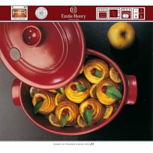 COCOTTE Кастрюля-жаровня для духовки и плиты, 6 л, 40 x 27 см, Emile Henry, арт. 74747, фото 2