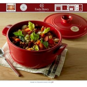 COCOTTE Кастрюля керамическая для духовки и плиты, 4 л, D 22 см, Emile Henry, арт. 79535, фото 3