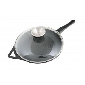 GIGANT Newline Антипригарная сковорода Вакамэ со съемной ручкой, 2 литра, D 28 см, индукционное дно, BAF, Германия, арт. 98510, фото 4
